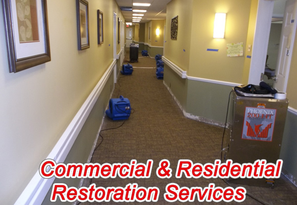commercial water damage restoration in Allen Park, Michigan